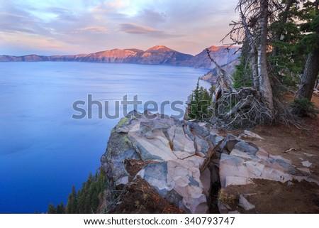 Crater Lake National Park - stock photo