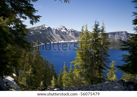 Crater Lake National Park in Oregon, USA - stock photo