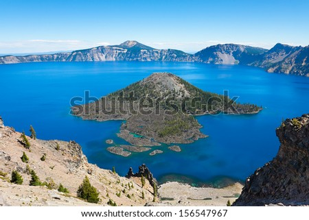 Crater Lake National Park, Oregon - stock photo