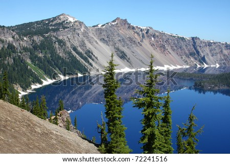 Crater Lake National Park, Oregon - stock photo