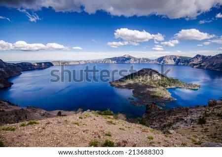 Crater Lake, Oregon - stock photo