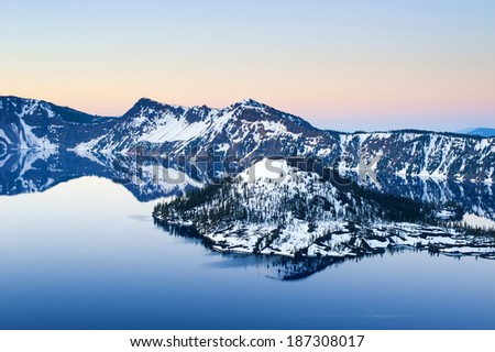 Crater Lake, Oregon, USA - stock photo