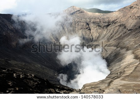 Crater of Volcano - stock photo