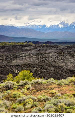 Craters of the Moon National Monument and Preserve - stock photo