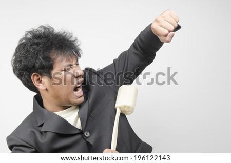 crazy businessman - stock photo