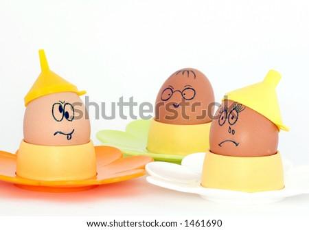 Crazy Eggs - stock photo