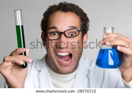 Crazy Scientist - stock photo
