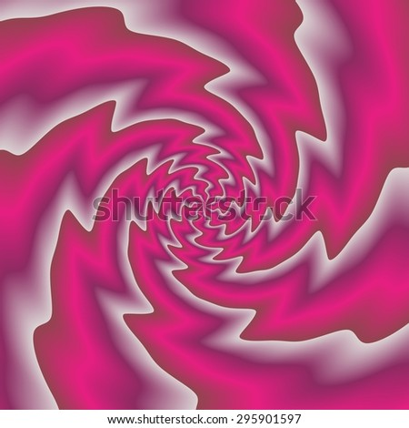 Crazy sharp abstract spirals in amazing colors - stock photo