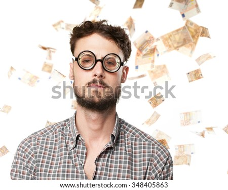 crazy young man angry pose - stock photo