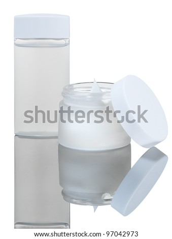 cream and liquid - stock photo