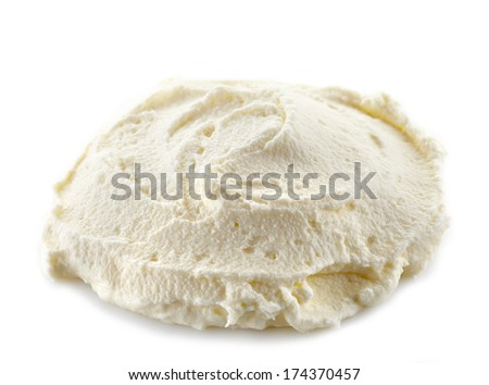 cream cheese on a white background - stock photo