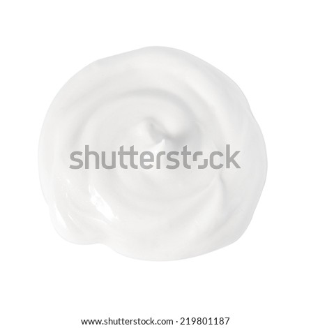 Cream isolated on white - stock photo