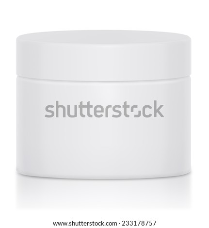 Cream jar, mock up packaging - stock photo
