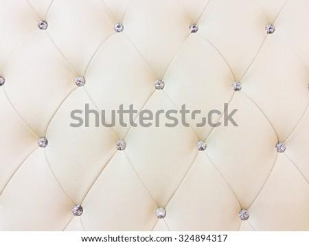 Cream Leather Sofa texture - stock photo
