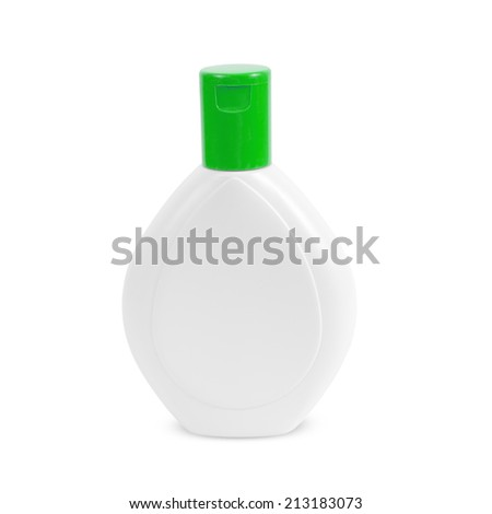 Cream, Shampoo, Gel Or Lotion Plastic Bottle On White  - stock photo