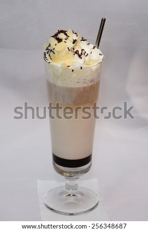 Creamy milkshake - stock photo