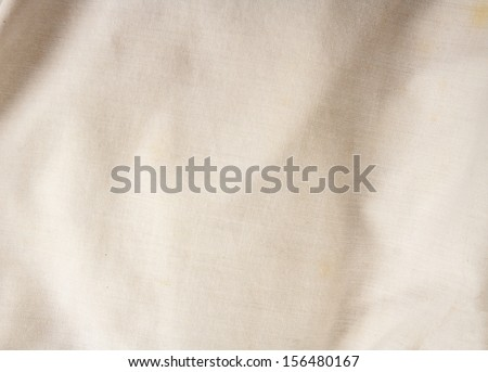 Creased canvas texture or background - stock photo