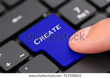 create - stock photo