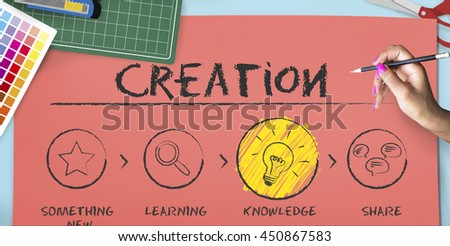Create Imagination Innovation Inspiration Ideas Concept - stock photo