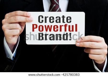 Create Powerful Brand - stock photo
