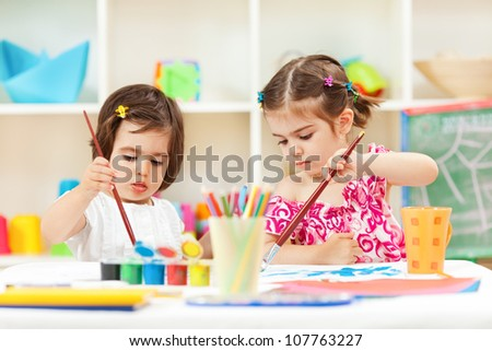 Creating together - stock photo
