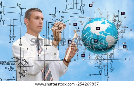 Creation new Internet technologies - stock photo
