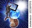 Creation of is high-technological program complexes for anti-virus safety of social networks the Internet - stock photo