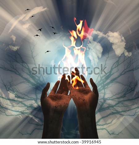 Creation of Woman - stock photo