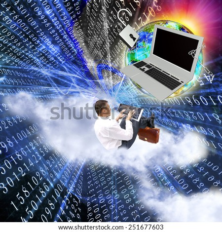 Creation safety internet technologies - stock photo