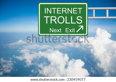 Creative a INTERNET TROLL Road Sign concept  - stock photo