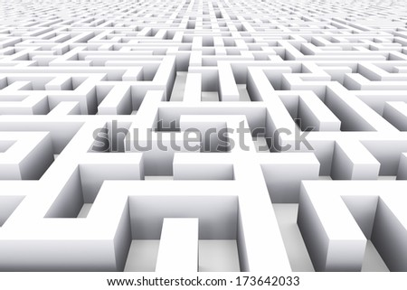 Creative abstract success, marketing, strategy and motivation business concept: whine endless labyrinth background - stock photo