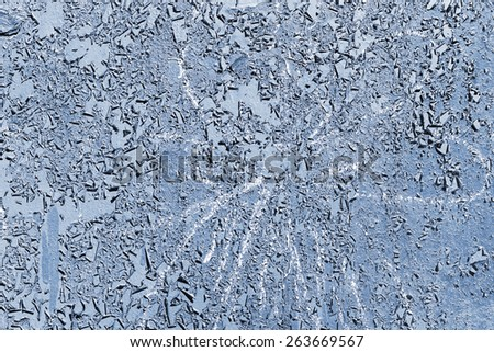 Creative background beautiful concrete carelessly painted blue paint, cracks and scratches. Grungy concrete surface. Great background or texture for your project. - stock photo