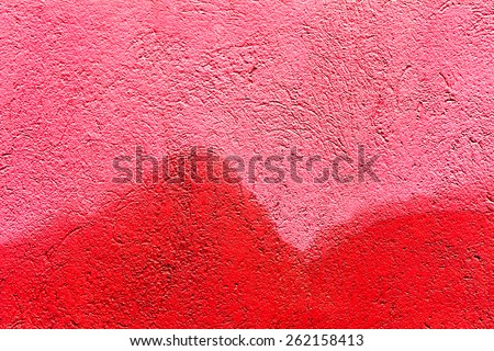 Creative background with beautiful shades of red, cracks and scratches on the concrete. Grungy concrete surface. Great background or texture for your project. - stock photo
