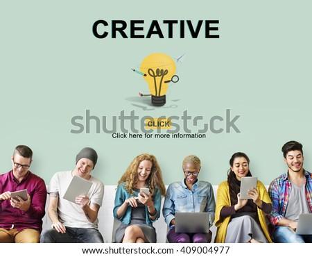 Creative Bulb Ideas Development Thinking Concept - stock photo