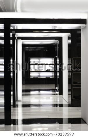 Creative Corridor in store - stock photo
