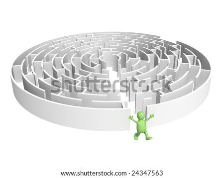 Creative decision of a problem - stock photo
