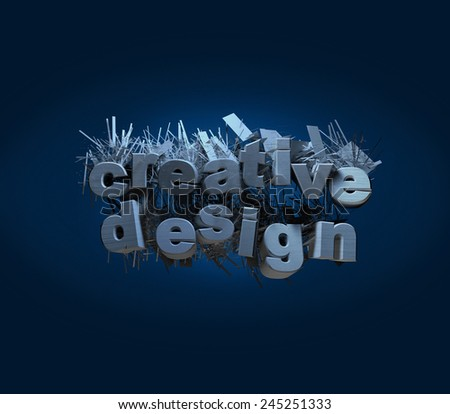 creative design logo logos render billboard illustration abstract render billboard graphic text 3D - stock photo