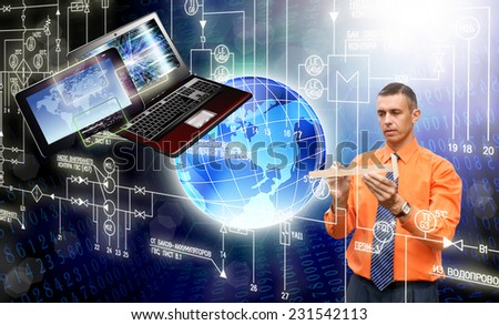 Creative engineering computer technology - stock photo