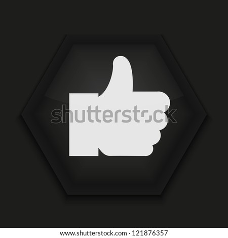 creative icon on black background. - stock photo