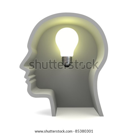 Creative ideas light bulb concept - stock photo