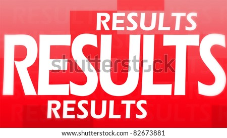 Creative image of red results concept - stock photo