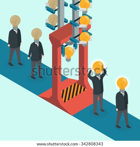 Creative light bulb with people, business, Innovation, Idea concept. - stock photo