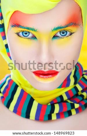 Creative makeup - stock photo
