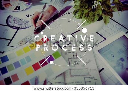 Creative Process Creativity Innovation Inspiration Concept - stock photo