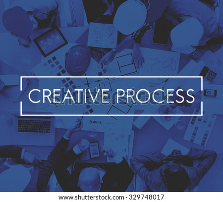 Creative Process Design Brainstorm Thinking Vision Ideas Concept - stock photo
