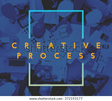 Creative Process Ideas Innovation Thinking Inspiration Concept - stock photo