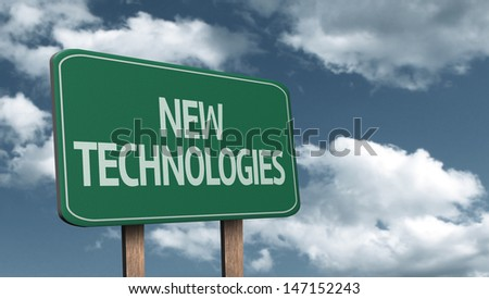 Creative sign with the message - New Technologies - stock photo