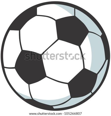 Creative Soccer Ball Illustration - stock photo