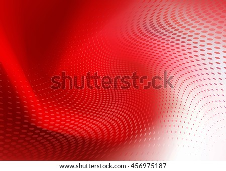 Creative Soft Abstract Dark Red Dot Swirl Design on random same color Background Template perfect for growing healthcare and various other businesses. Plenty of space for text. - stock photo