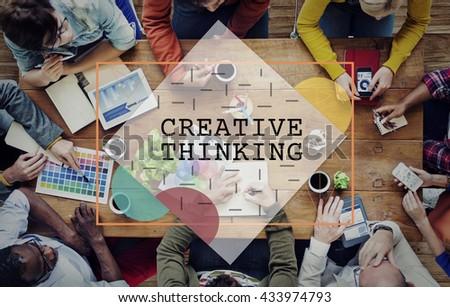 Creative Thinking Ideas Imagination Innovation Concept - stock photo